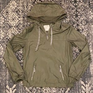Zine Olive 1/4 Zip Windbreaker